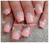 PinkSilverRosaArgentoGlitterPailettes