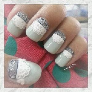 Tea party nails