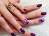 Purple With Feature Nail
