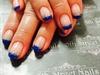 Blue glitter french
