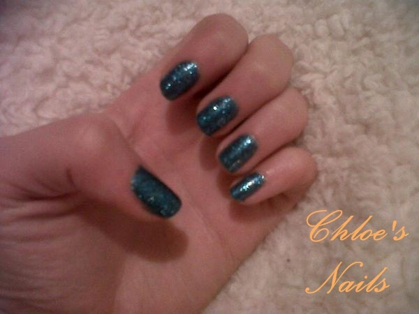 Blue Glitter Shellac