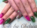 Bright Lights Glitter Nails