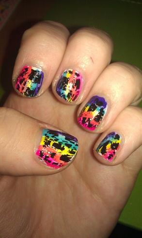 rainbow crackle