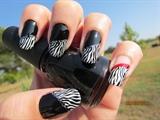 Black and White Zebraish