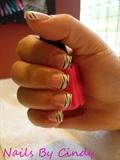 Hand Painted Zebra Nails