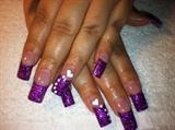 purple/hearts