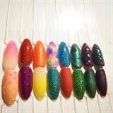 Gel Glitter/Pigment Examples