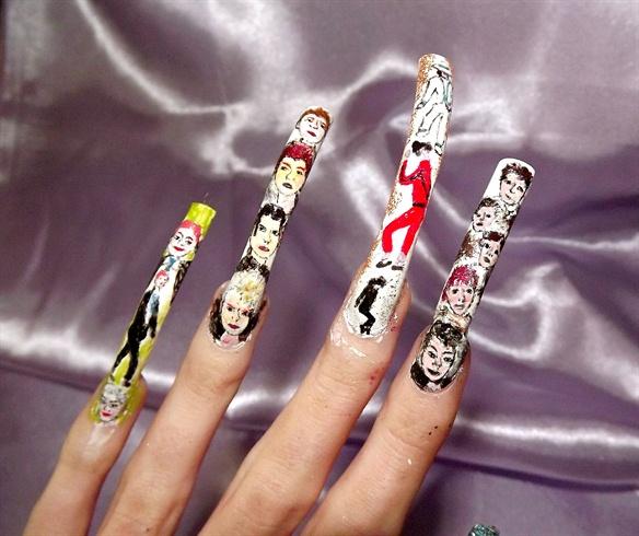 80s music nail art nail art gallery 8039s music nail art prinsesfo Gallery