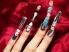 Horror movie character nail art.