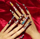 Horror movie character nail art.All