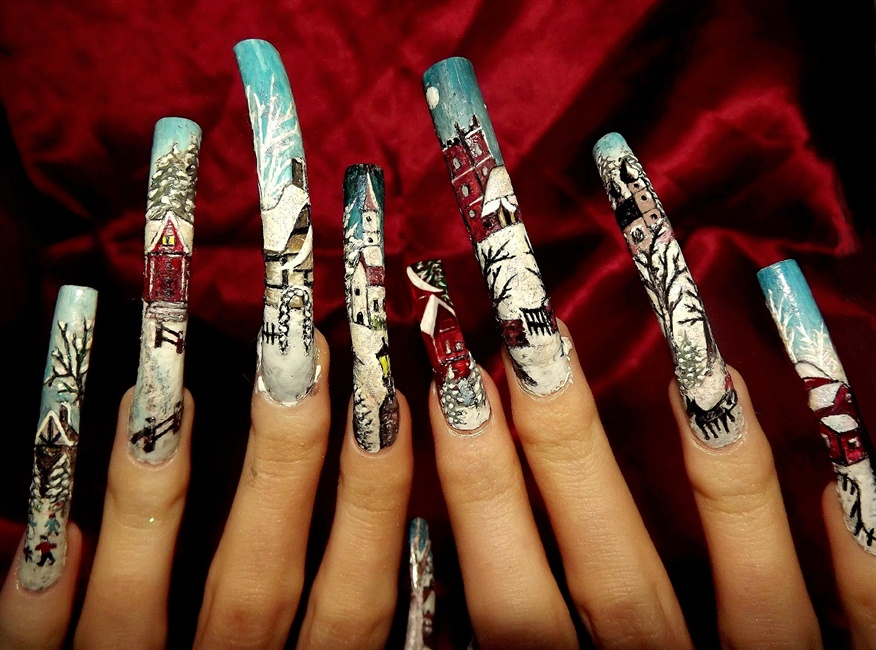 Full line up -winter nail art theme. - Nail Art Gallery