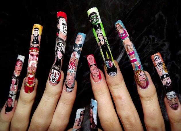 TNA impact wrestling nail art.