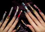 Cat themed nail art