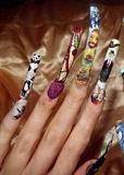 Famous artist nail theme..