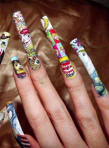 Famous artist nail theme 2