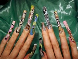More of the wildlife nail art..