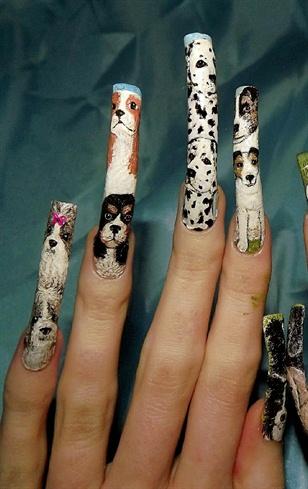 Dog Breed Nail Art Left Hand Close Up Nail Art Gallery