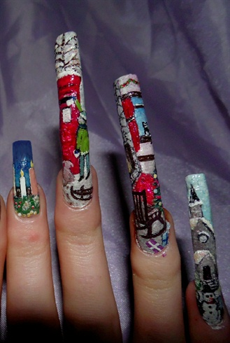 Xmas theme- Right hand close up