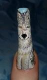 Wolf nail art..
