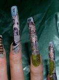 Scottish Castles nail art