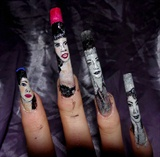 Pin up girls nail art