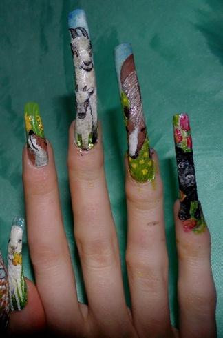 Easter animals nail art