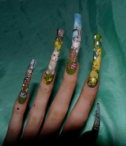 More close ups of left hand designs