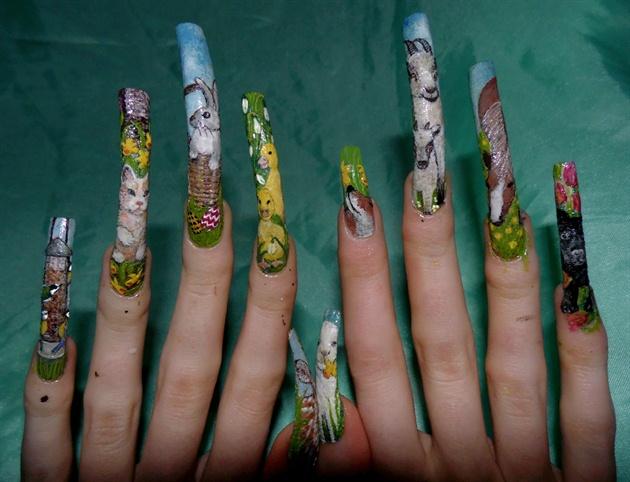 Spring nail art full line up