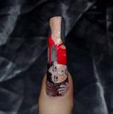 Dominitrix nail art..