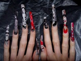 Dominitrix/ fetish nail art full line up.