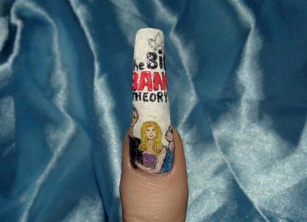 The Big Bang Theory nail art theme..