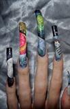 Space nail art..