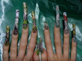 Dinosaur nail art theme, full line up design.