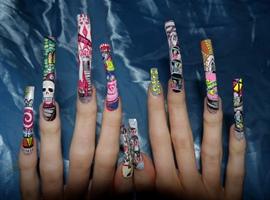 Fairground nail art theme :)