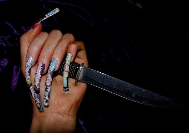 Halloween horror nail art..