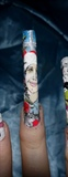 Christmas nail art.. Chevy Chase