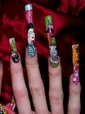 Chinese New Year inspired nail art