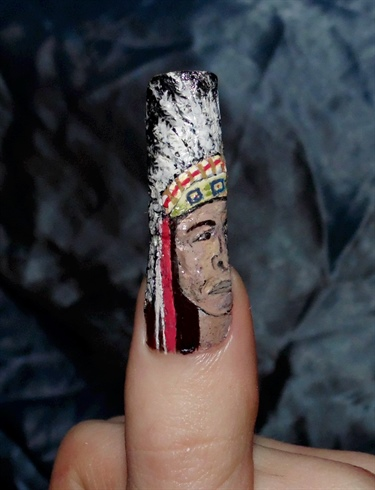 Native American chief.