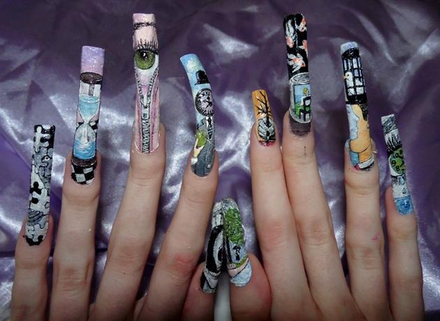 Surrealism nail art - full line up.