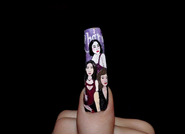 Halloween nail art. Charmed.