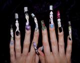 Charmed halloween nails.
