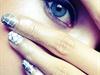 Snake skin nail art