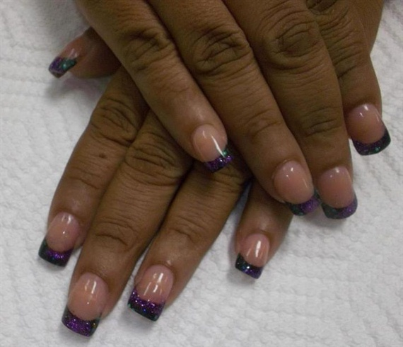 Purple & Black French