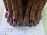 Royal blue hand