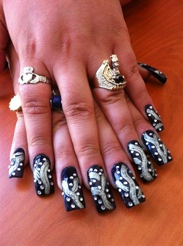 glitter rhinestones  nail art gallery
