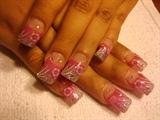 Pink & Silver w/ Flower