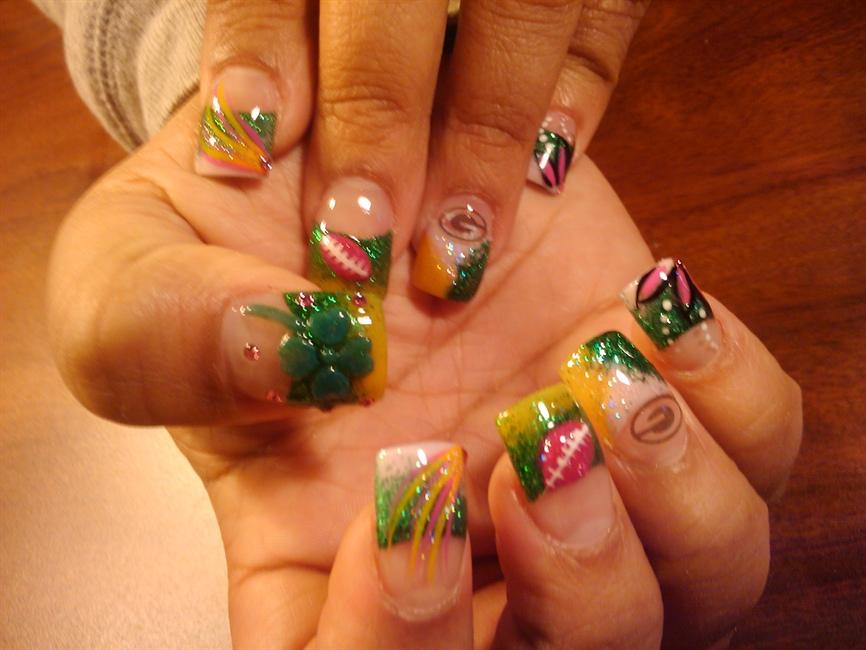 GreenBay Packers - Nail Art Gallery