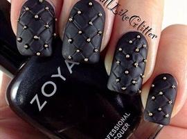 nail art: Black