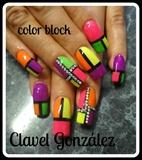 neon color block
