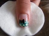 pretty polka dot bow (green)